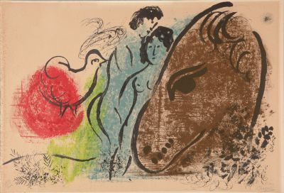 """Cheval brun"". MARC CHAGALL"