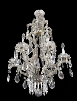 Lámpara de estilo veneciano, años 40. Vidrio