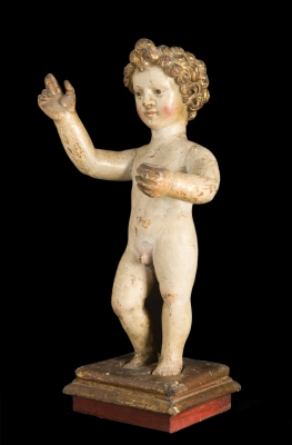 """Niño Jesús"" Talla Española siglo XVII-XVIII."