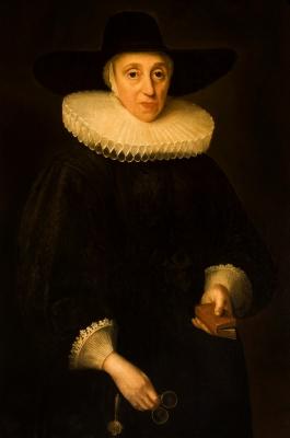 """""""Retrato de señora"""" Escuela holandesa del siglo XVII."""