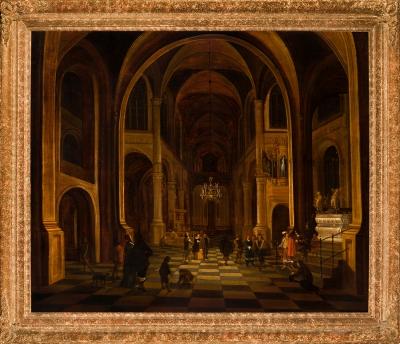 """Interior de iglesia"". DANIEL DE BLIECK"