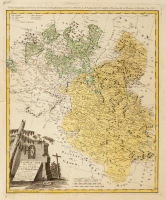 Mapa de Castillae Novae, 1761.