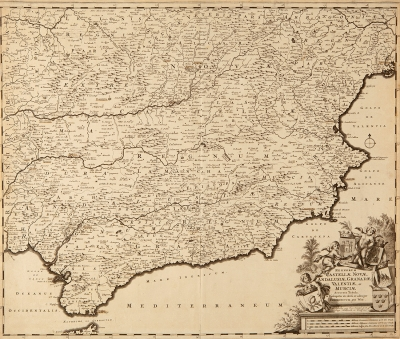 Mapa de Castillae Novae, Frederik de Wit (1629-1706).
