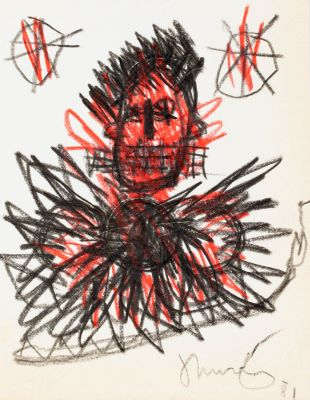JEAN-MICHEL BASQUIAT (New York, USA, 1960 - 1988).Untitled, 1981.