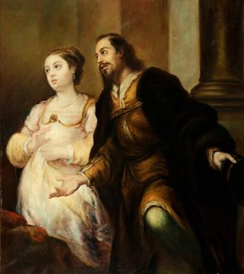 """""""El duque y su esposa"""" GUTIÉRREZ DE LA VEGA, José"""