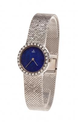Reloj EBEL para señora. En oro blanco de 18 kts y diamantes