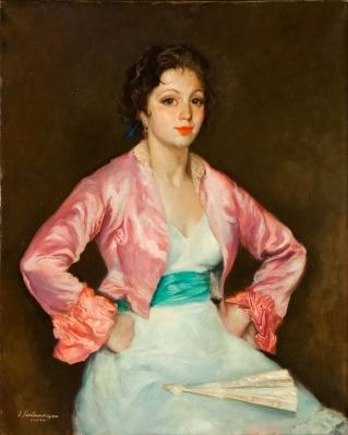 """Retrato femenino"" Ernesto Santasusagna Santacreu"