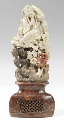Chinese sculpture, 20th century.Immortal monk.