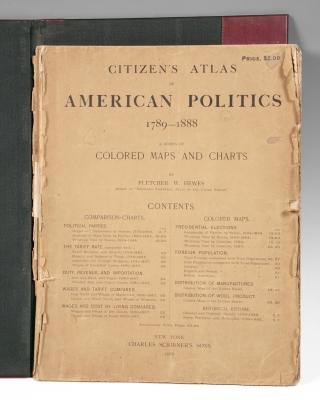 """Citizen's Atlas of American Politics 1789-1888"" HEWES,"