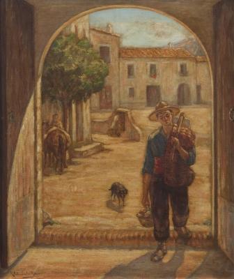 """""""Escena rural"""".  Ramón Palmarola Romeu"""