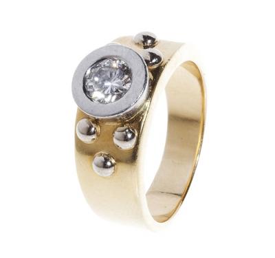 Sortija TOUS en oro amarillo tipo solitario con diamant