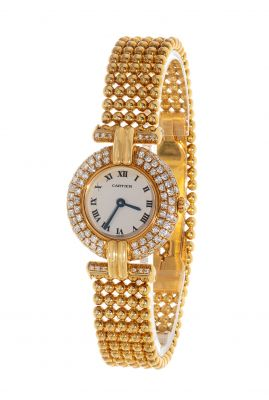CARTIER Colisee B jewelery watch, for women.In 18 kts yellow gold.