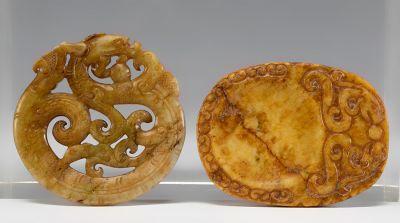 Pareja de amuletos, siglos XIX-XX. Jade.
