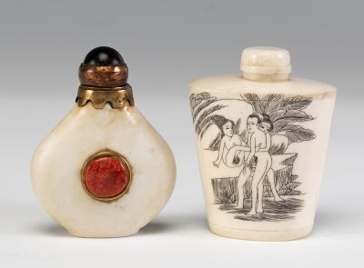 Pareja de Snuff bottle. China, principios del siglo XX.