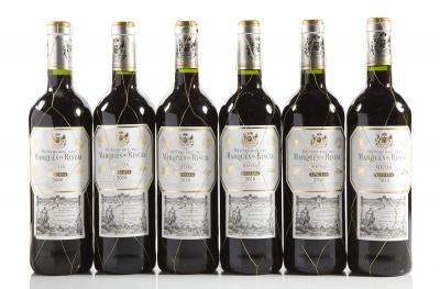 Seis botellas de Marqués de Riscal Reserva 2008 (1) y 2