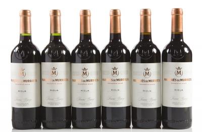 Seis botellas de Marqués de Murrieta Reserva 2006 (2) y 2009 (4).