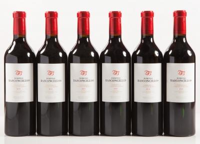 Seis botellas de Dominio Basconcillos 2010.