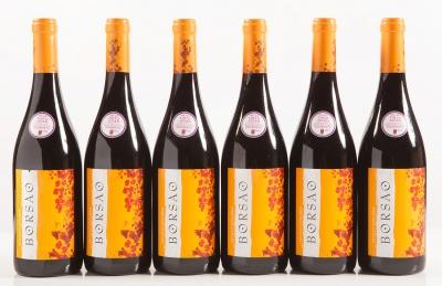 Seis botellas de Borsao Selección 2014.