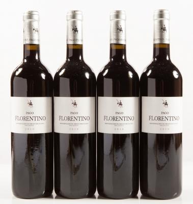 Cuatro botellas de Pago Florentino 2010.