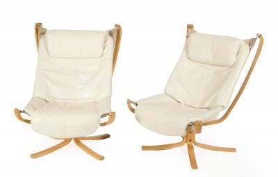 Pareja de sillones de diseño, años 60-70.