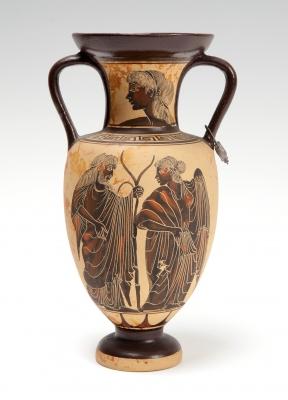 Vaso de estilo griego, finales del siglo XIX – principios del XX.