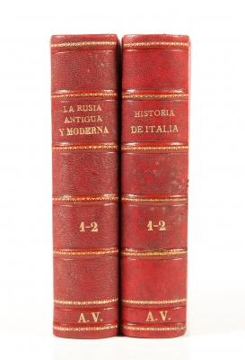 Dos libros de historia, siglo XIX.