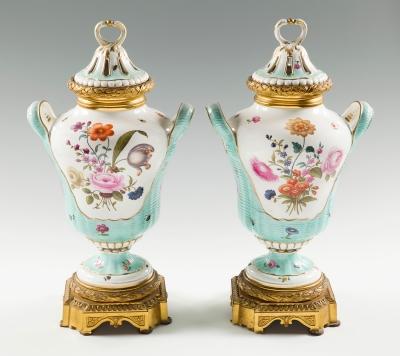 Pareja de jarrones Napoleón III; Alemania, hacia 1870.