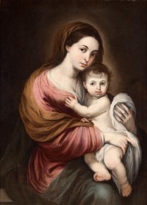 """""""Virgen de Belén"""" Círculo de MURILLO, Bartolomé Esteban"""