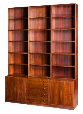 Mueble modular de diseño danés, años 60. Palosanto