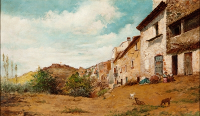 """Hostalrich"", 1886. AMADÓ Y BERNADET, Ramón"