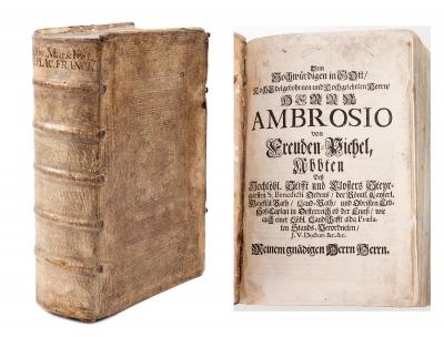Libro de temática religiosa del siglo XVIII. Encuader