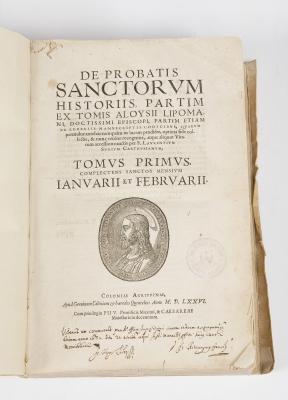 """De Probatis Sanctorum Historiis"", tomo I. Coloniae A"