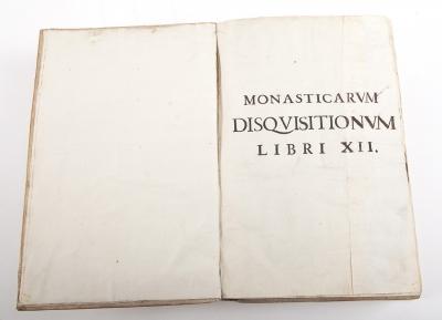 """""""Monasticarum Disquisitionum libri XII"""" DE NURSIA, San Benito"""