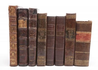 Cinco diccionarios del siglo XVIII.7 vols.