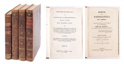 Dos libros de fisiología del siglo XIX. 1+3 vols