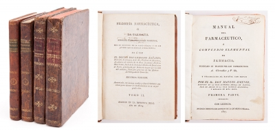 Dos libros de farmacia del siglo XIX. 2+2 vols