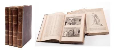 Dos libros de ciencias naturales, siglo XIX. 3+1 vol