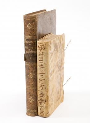 Dos libros de filosofía, siglos XVIII y XIX.