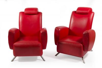 Pareja de sillones de diseño, años 80.