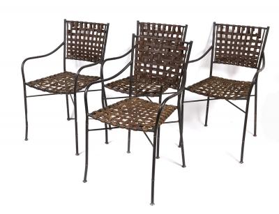 Juego de cuatro sillas de diseño, segunda mitad del siglo XX.