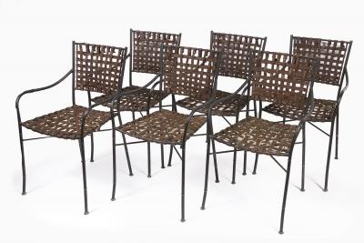 Juego de seis sillas de diseño, segunda mitad del siglo XX.