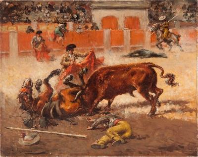 """""""La cogida del picador"""". GIMENO, Andrés"""