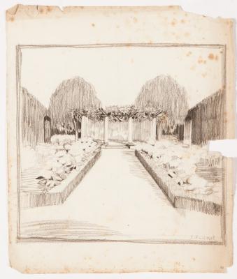 """""""Boceto de jardín"""" Santiago Rusiñol i Prats"""