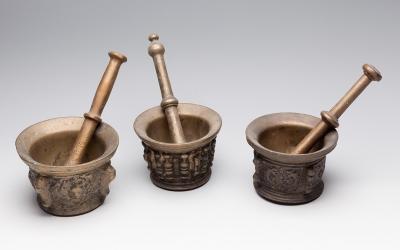 Conjunto de tres morteros de finales del s.