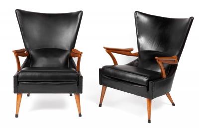 Pareja de sillones, años 50.
