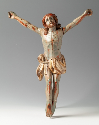 Cristo crucificado; Escuela colonial, siglo XVII.