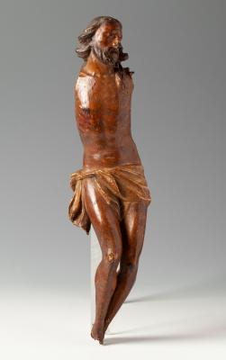 Cristo del siglo XVII. Madera tallada.