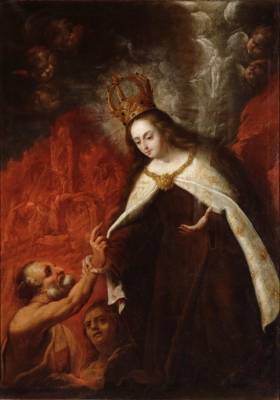 Our Lady of Mount Carmel freeing the Holy Souls in Purgatory.