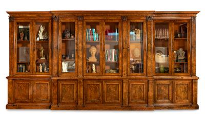 HOLLAND & SONS Breakfront bookcase (1803–1942); England, ca. 1860-1870.