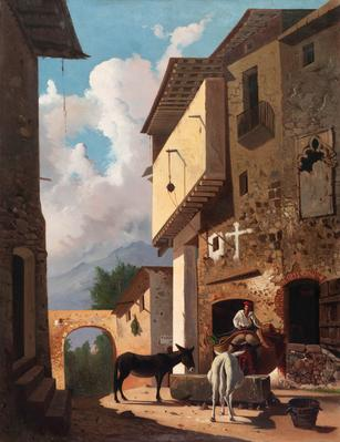 """Paisaje rural"", 1870.  JAIME ESTEVE I NADAL"